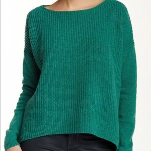Forest Green THEORY Boatneck Sweater in S/P